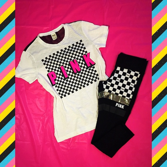 Victoria s Secret PINK Checkered Outfit a8e3d2993